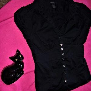 black shirt dress office funeral 4 skirt pants